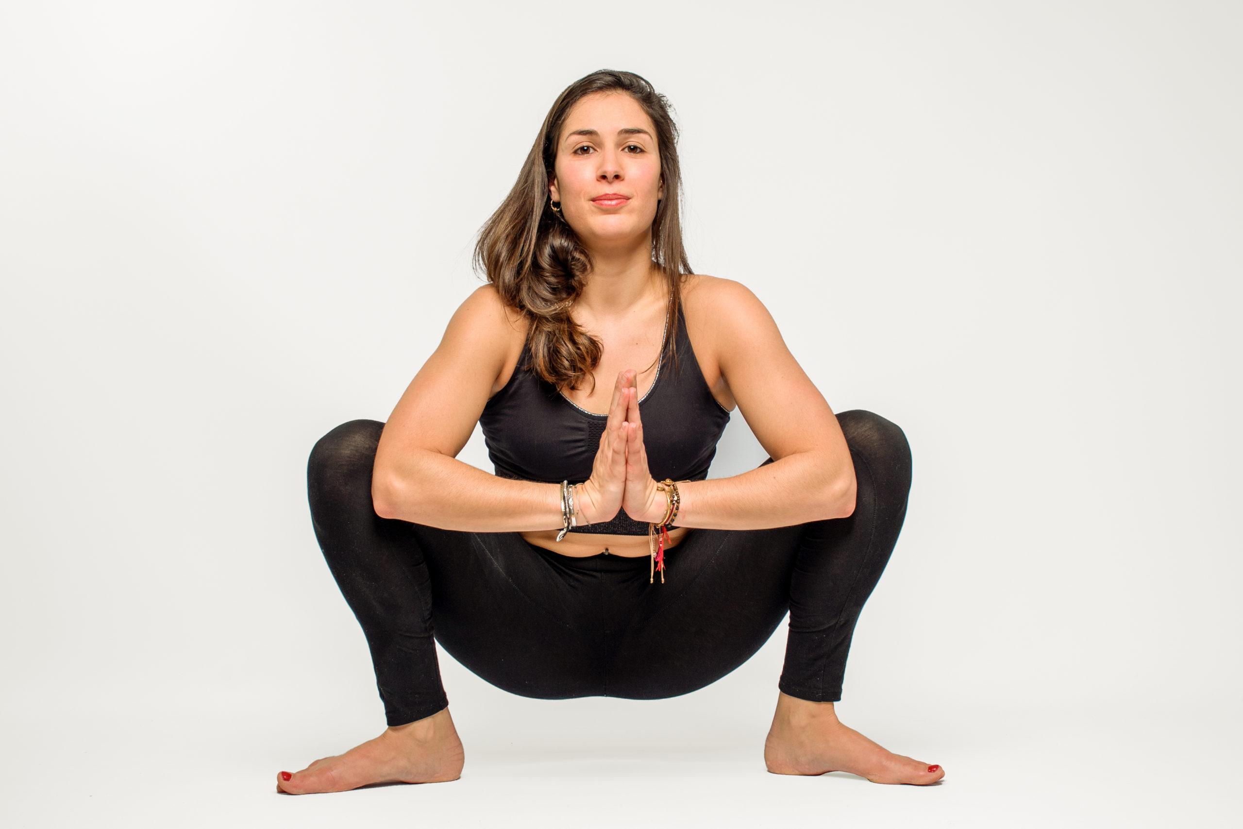 Posture de yoga réalisé pendant le Soft Flow